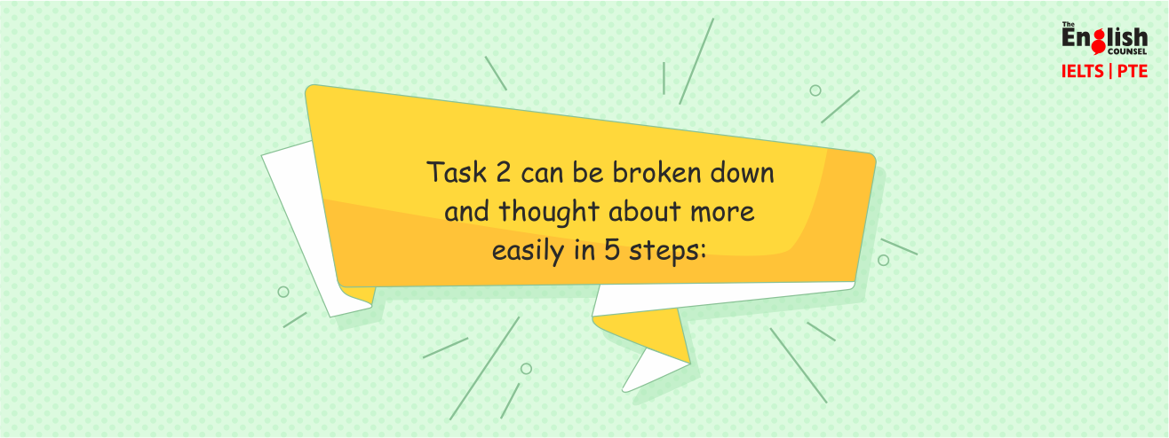 Task 2 can be broken down and thought about more easily in 5 steps: